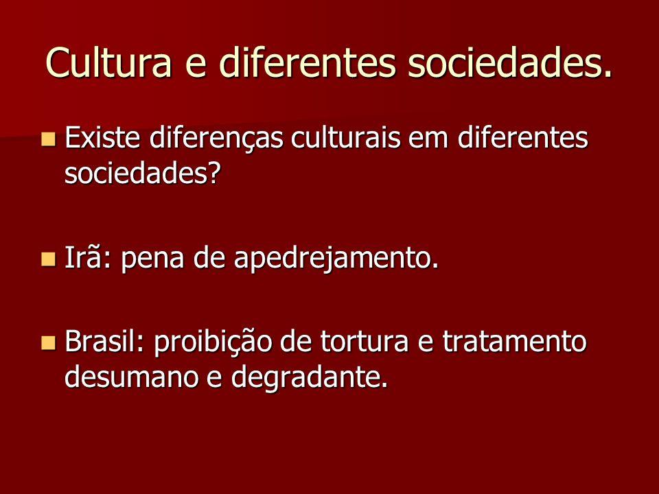 Cultura e diferentes sociedades. Existe diferenças culturais em diferentes sociedades? Existe diferenças culturais em diferentes sociedades? Irã: pena