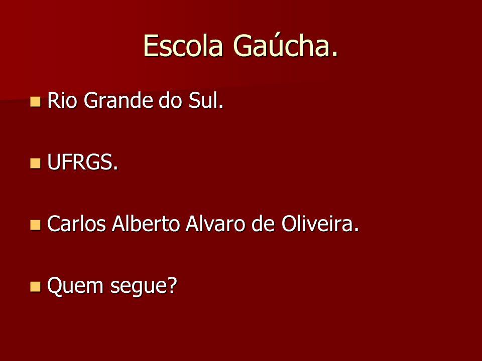 Escola Gaúcha. Rio Grande do Sul. Rio Grande do Sul. UFRGS. UFRGS. Carlos Alberto Alvaro de Oliveira. Carlos Alberto Alvaro de Oliveira. Quem segue? Q