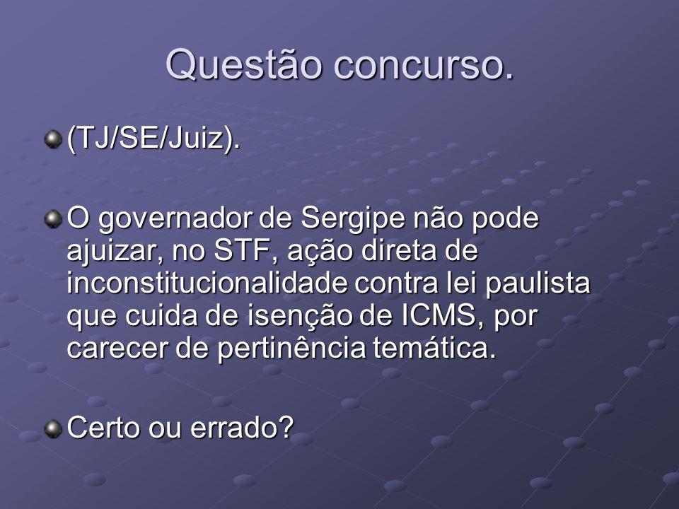 Questão concurso.(TJ/SE/Juiz).