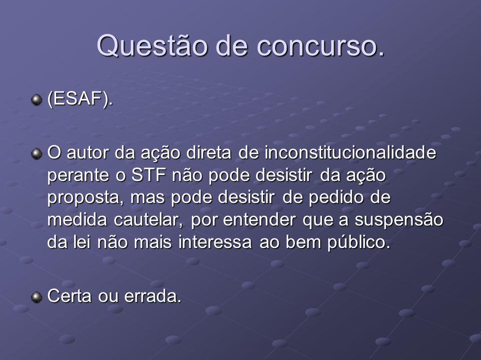Questão de concurso.(ESAF).