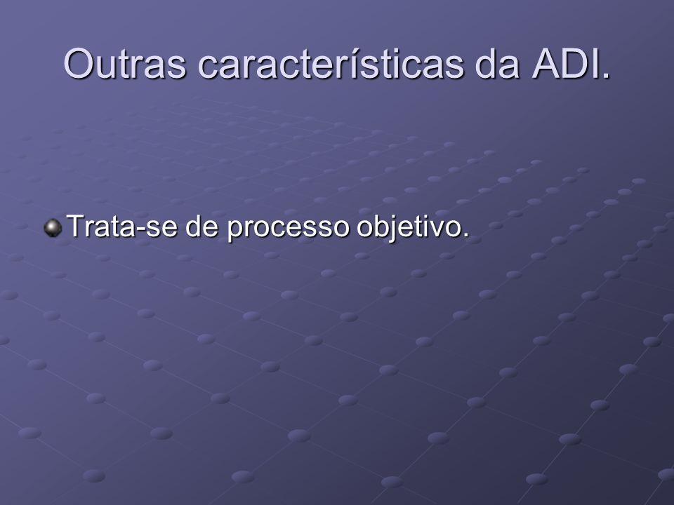 Outras características da ADI. Trata-se de processo objetivo.