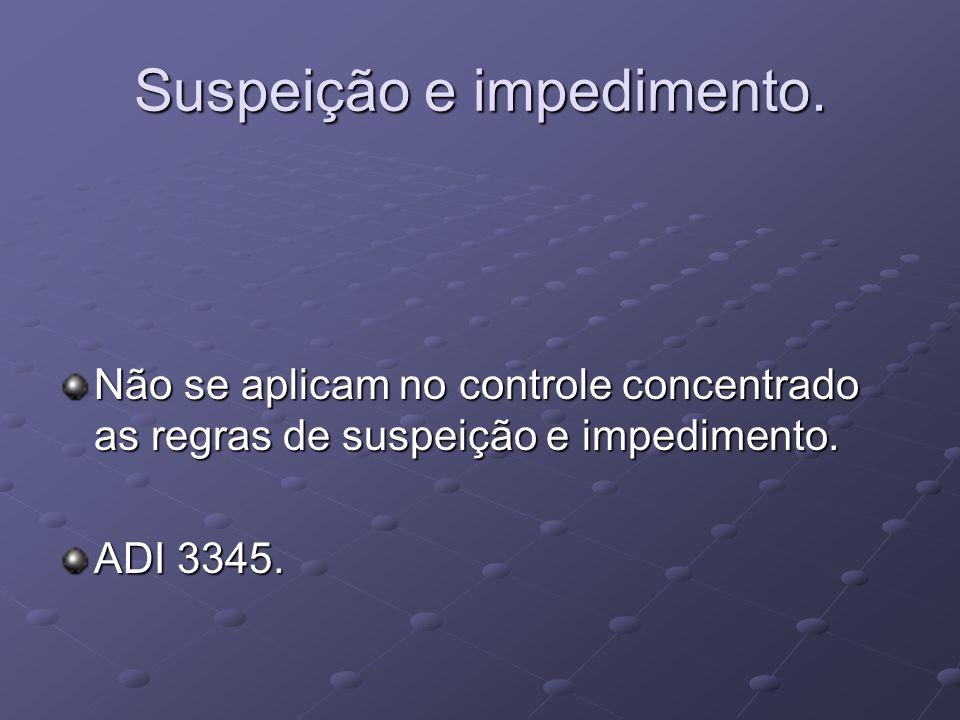 Suspeição e impedimento.