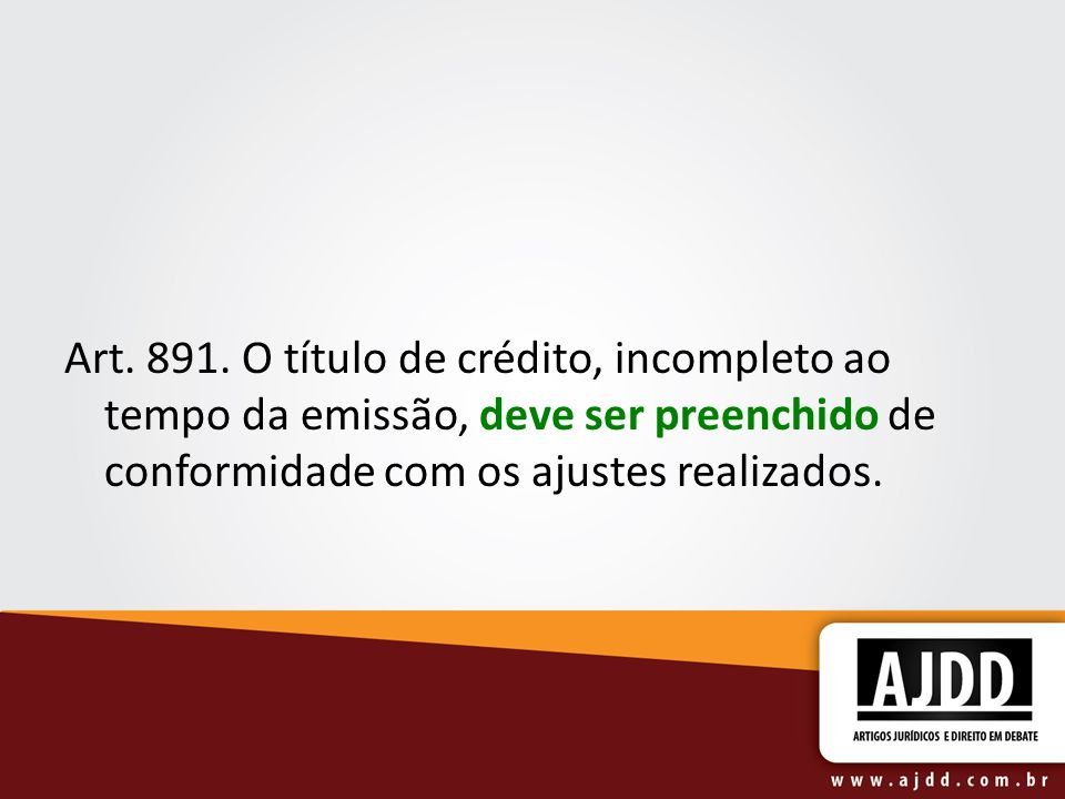 Art. 891.