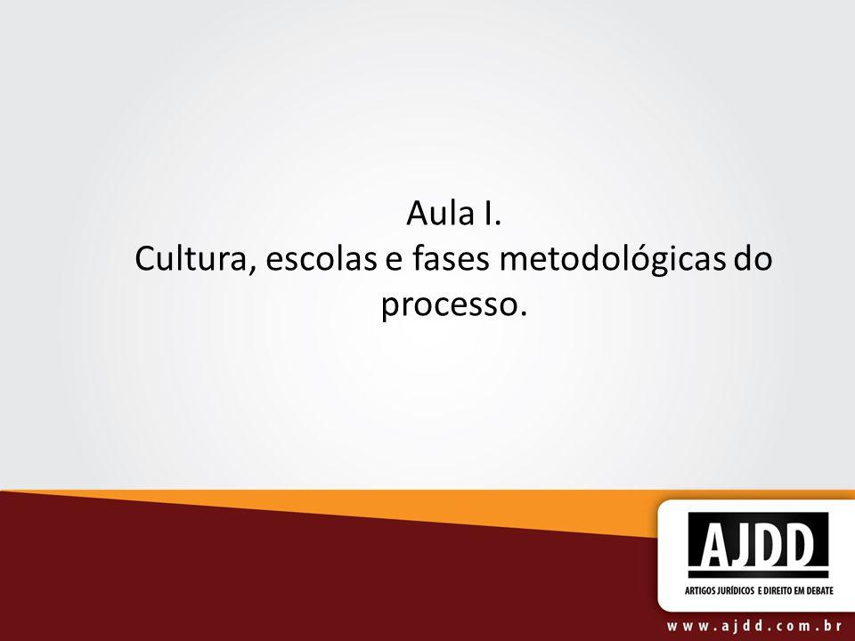 Aula I. Cultura, escolas e fases metodológicas do processo.