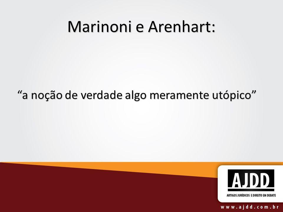 Marinoni e Arenhart: a noção de verdade algo meramente utópico