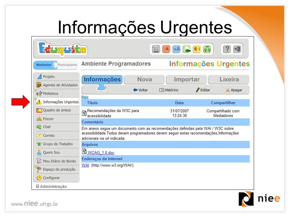 Informações Urgentes