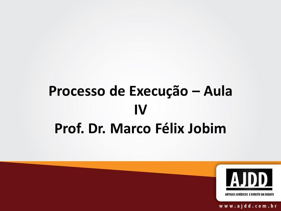 Processo de Execução – Aula IV Prof. Dr. Marco Félix Jobim