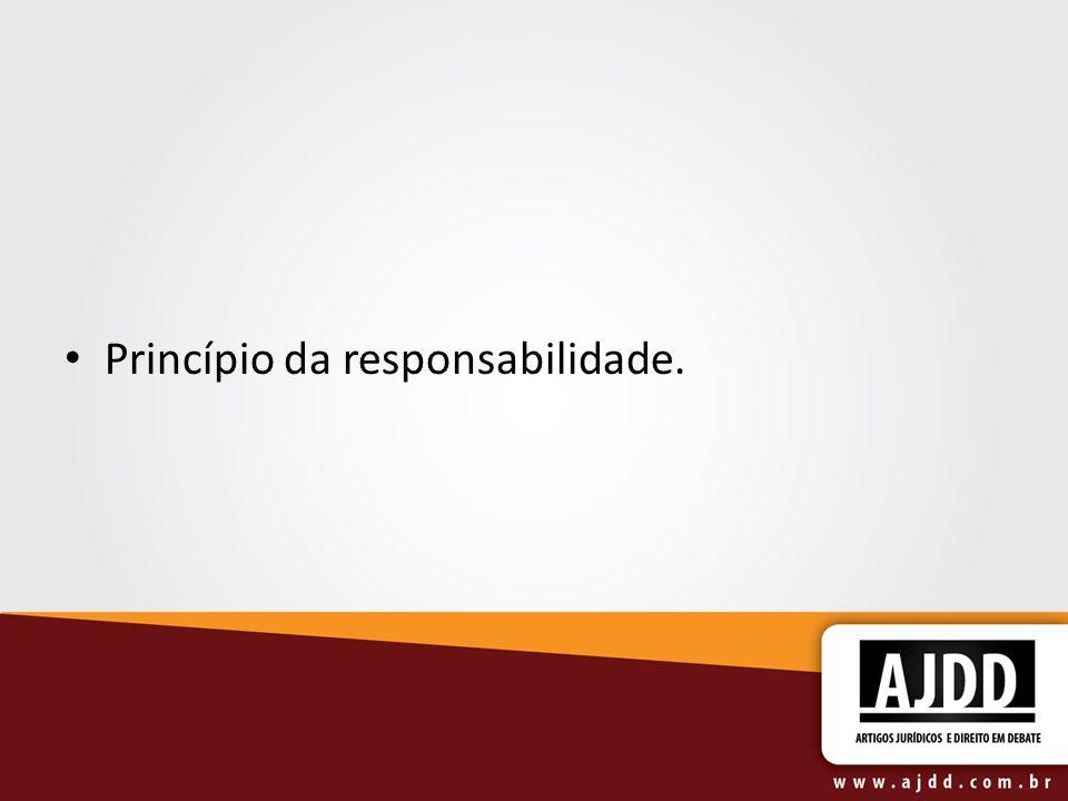 Princípio da responsabilidade.