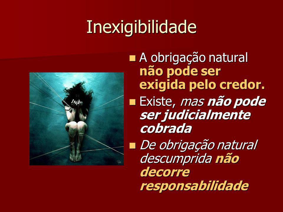 Obrigação civil e obrigação natural Numa obrigação civil – p.