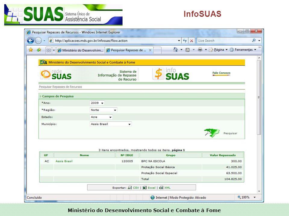 Ministério do Desenvolvimento Social e Combate à Fome InfoSUAS