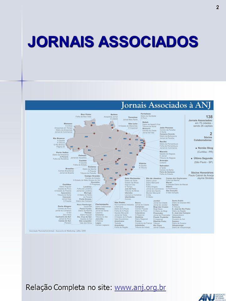 JORNAIS ASSOCIADOS Relação Completa no site: www.anj.org.br www.anj.org.br 2