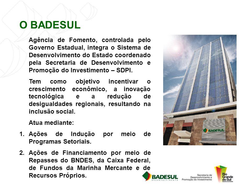 Agência de Fomento, controlada pelo Governo Estadual, integra o Sistema de Desenvolvimento do Estado coordenado pela Secretaria de Desenvolvimento e Promoção do Investimento – SDPI.