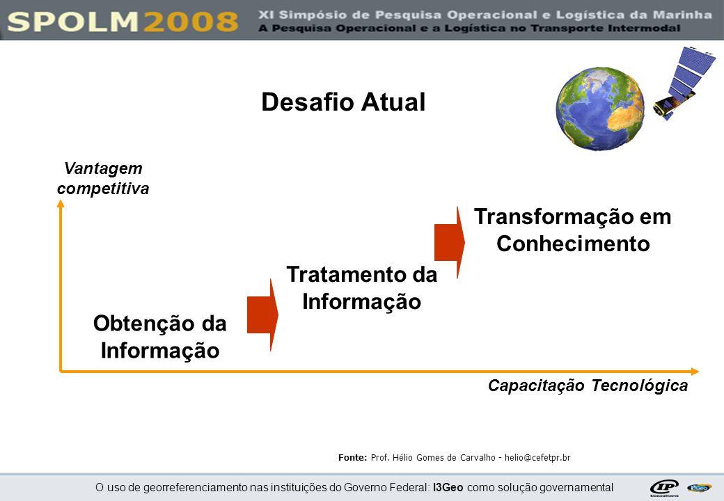 O uso de georreferenciamento nas instituições do Governo Federal: I3Geo como solução governamental Demonstração onlinehttp://200.199.198.24/i3geo Demonstração onlinehttp://200.199.198.24/i3geo