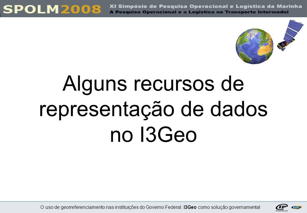 Alguns recursos de representação de dados no I3Geo