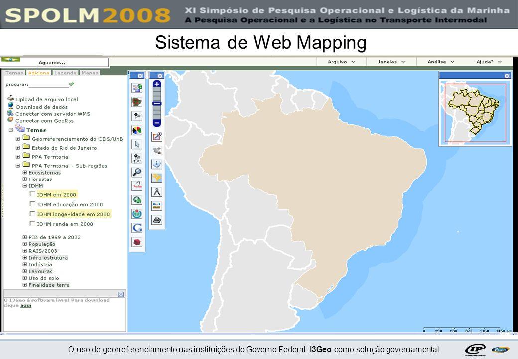 O uso de georreferenciamento nas instituições do Governo Federal: I3Geo como solução governamental Sistema de Web Mapping