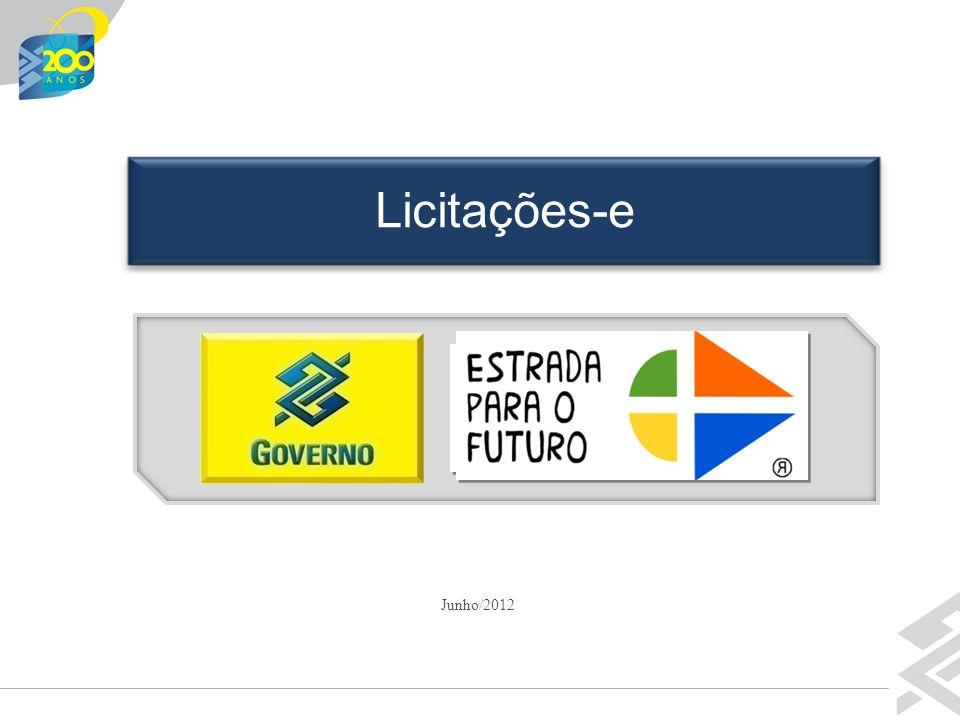 Diretoria de Governo Junho/2012 Licitações-e