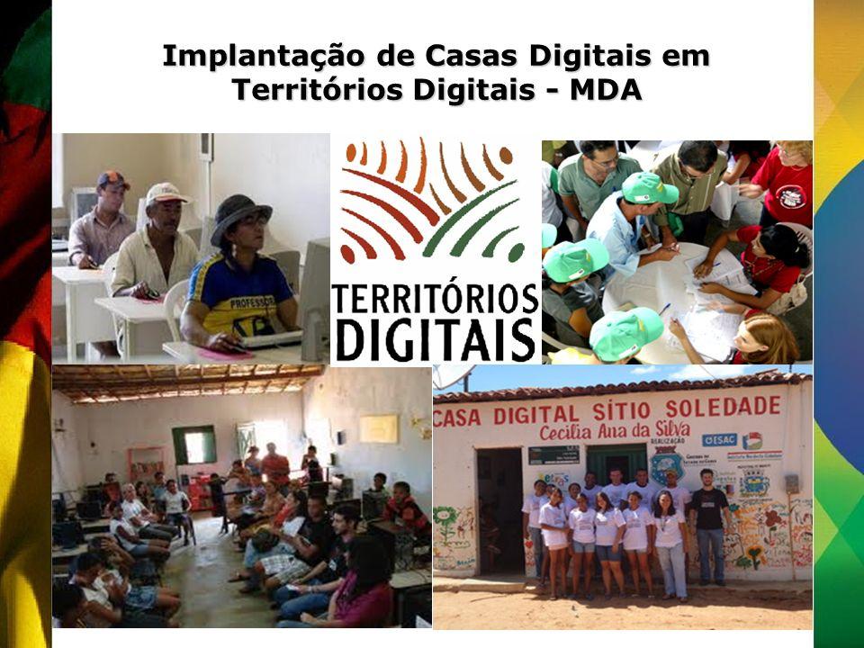 Implantação de Casas Digitais em Territórios Digitais - MDA