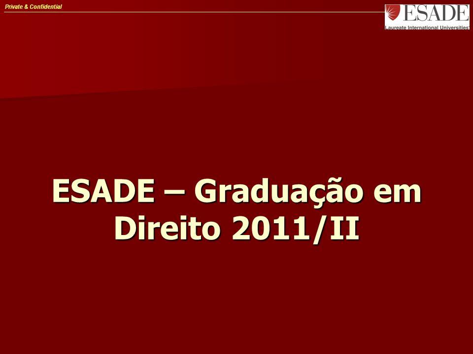 Private & Confidential ESADE – Graduação em Direito 2011/II