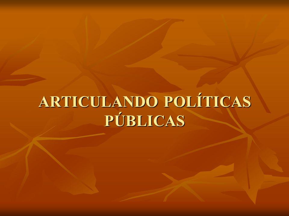 ARTICULANDO POLÍTICAS PÚBLICAS