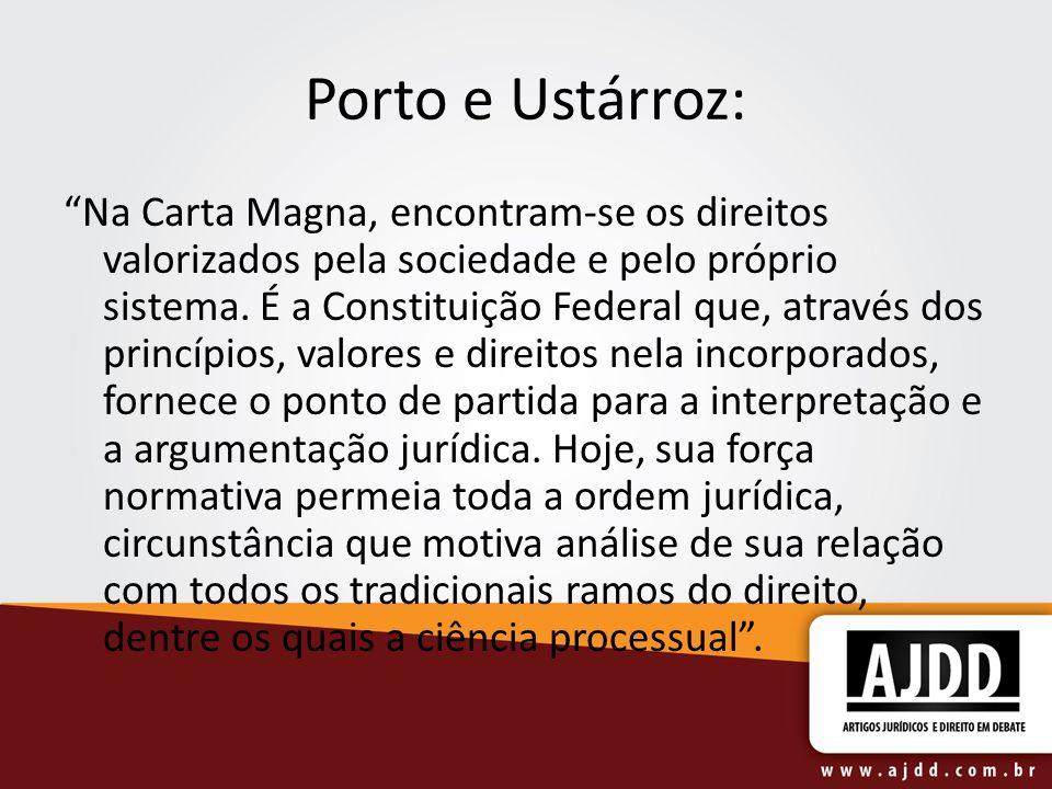 Porto e Ustárroz: Na Carta Magna, encontram-se os direitos valorizados pela sociedade e pelo próprio sistema. É a Constituição Federal que, através do