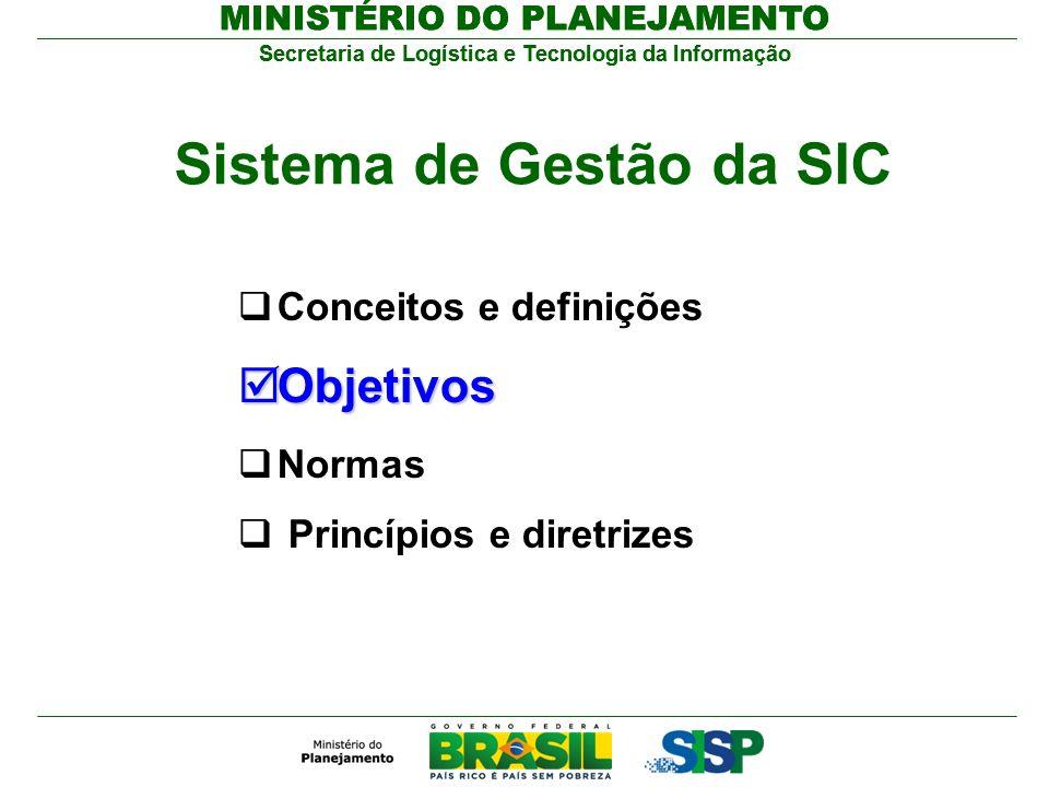 Secretaria de Logística e Tecnologia da Informação MINISTÉRIO DO PLANEJAMENTO Secretaria de Logística e Tecnologia da Informação MINISTÉRIO DO PLANEJA