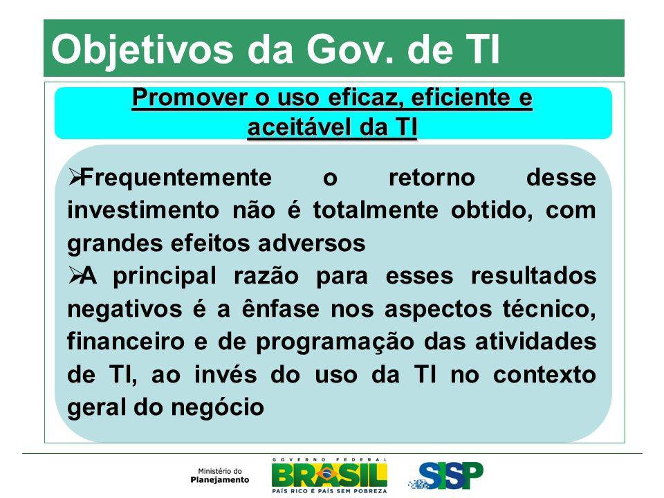 A SIC na APF Infovia Brasília Objetivos Proporcionar uma significativa redução dos custos de comunicação e um ambiente capaz de servir de suporte à implementação das políticas públicas de Governo