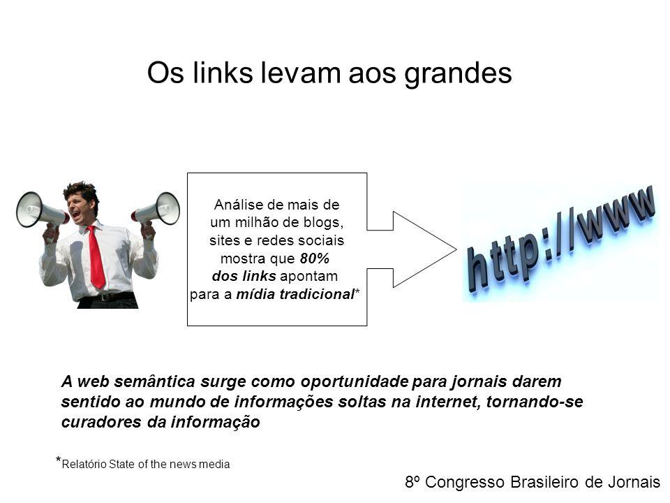 Os links levam aos grandes A web semântica surge como oportunidade para jornais darem sentido ao mundo de informações soltas na internet, tornando-se