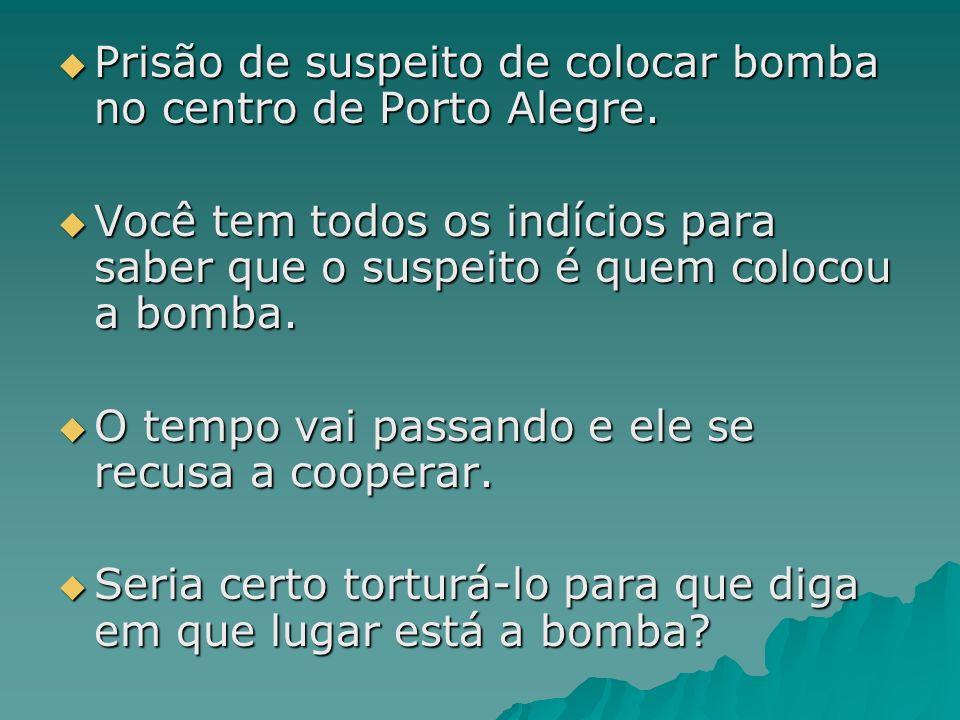 Prisão de suspeito de colocar bomba no centro de Porto Alegre.