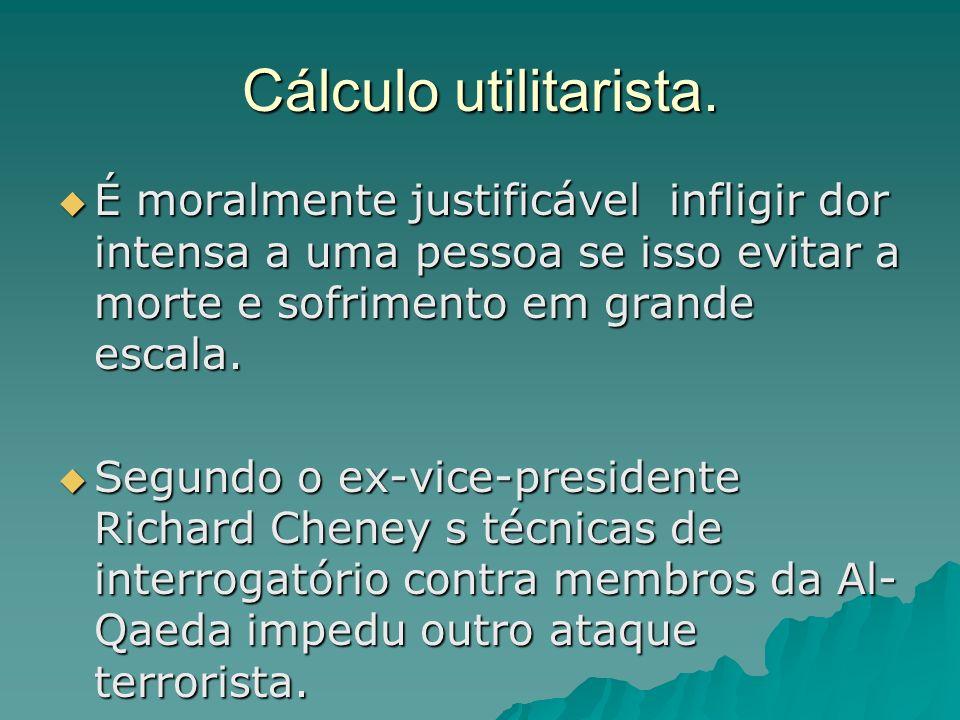 Cálculo utilitarista.