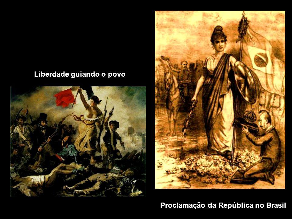 Liberdade guiando o povo Proclamação da República no Brasil
