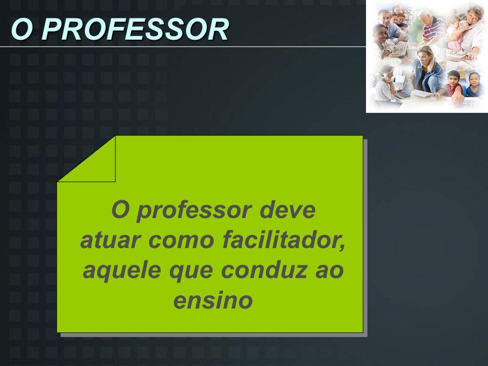 O professor deve atuar como facilitador, aquele que conduz ao ensino