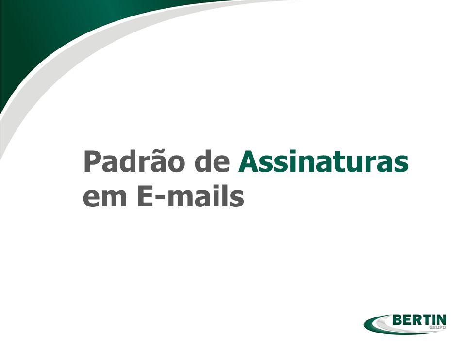 Padrão de Assinaturas em E-mails
