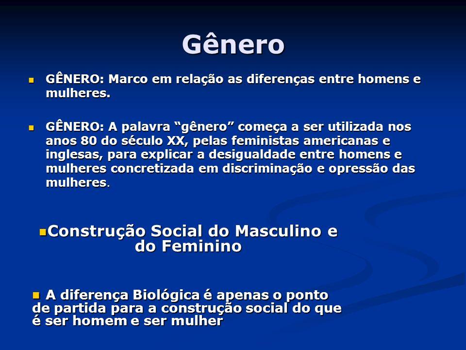 Gênero GÊNERO: Marco em relação as diferenças entre homens e mulheres. GÊNERO: Marco em relação as diferenças entre homens e mulheres. GÊNERO: A palav