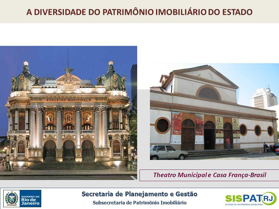 Theatro Municipal e Casa França-Brasil Secretaria de Planejamento e Gestão Subsecretaria de Patrimônio Imobiliário A DIVERSIDADE DO PATRIMÔNIO IMOBILI