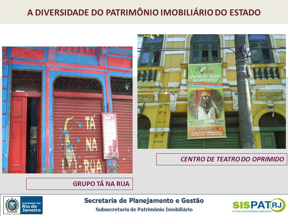 Ilha de Brocoió, Paquetá Secretaria de Planejamento e Gestão Subsecretaria de Patrimônio Imobiliário A DIVERSIDADE DO PATRIMÔNIO IMOBILIÁRIO DO ESTADO
