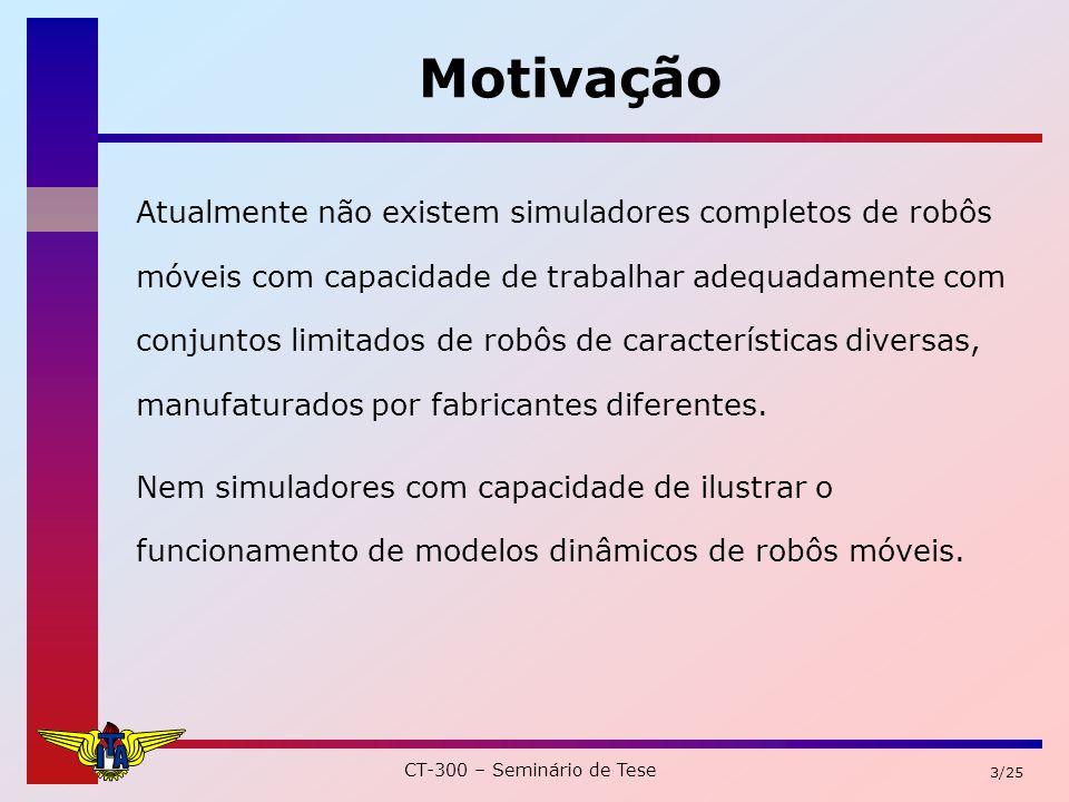 CT-300 – Seminário de Tese 24/25 Sumário MotivaçãoObjetivos Descrição do Sistema Diagramas de classes Conclusões