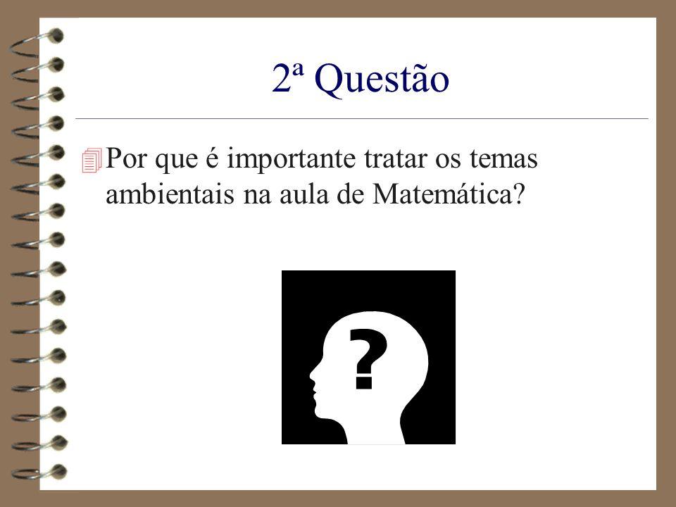 2ª Questão 4 Por que é importante tratar os temas ambientais na aula de Matemática?