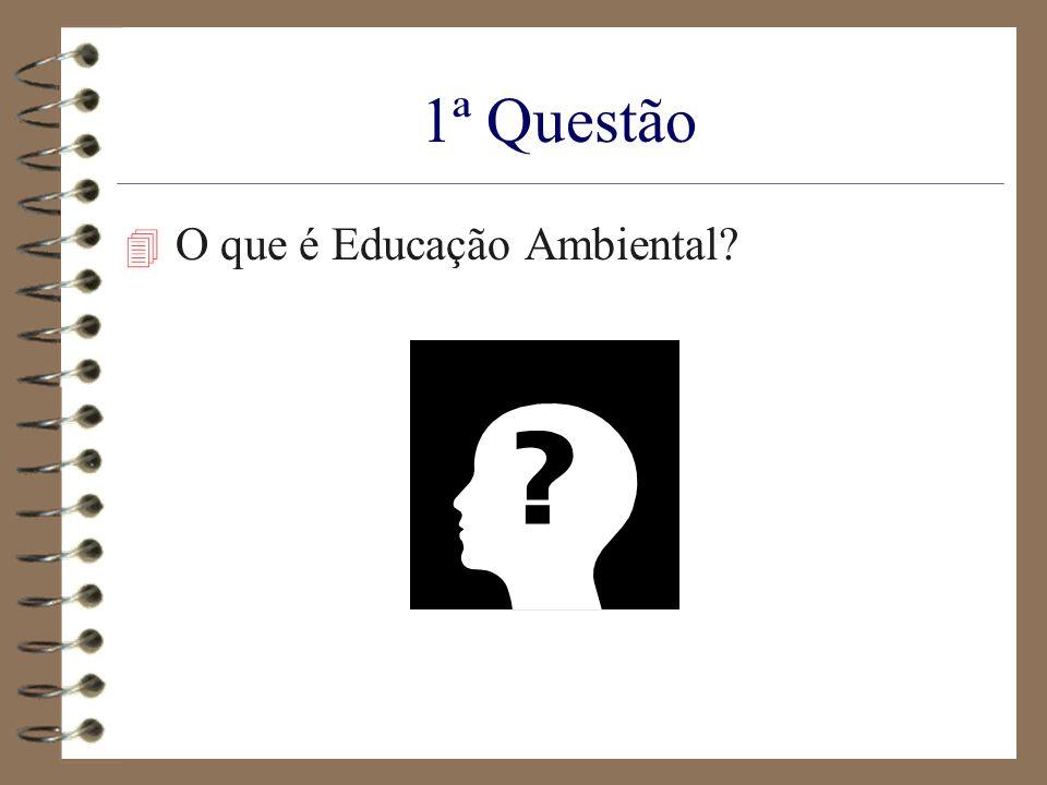 1ª Questão 4 O que é Educação Ambiental?