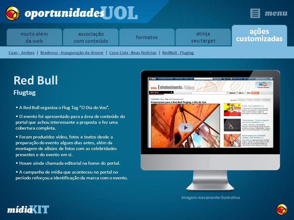 associação com conteúdo formatos ações customizadas muito além da web atinja seu target Red Bull Flugtag A Red Bull organiza o Flug Tag O Dia do Voo.