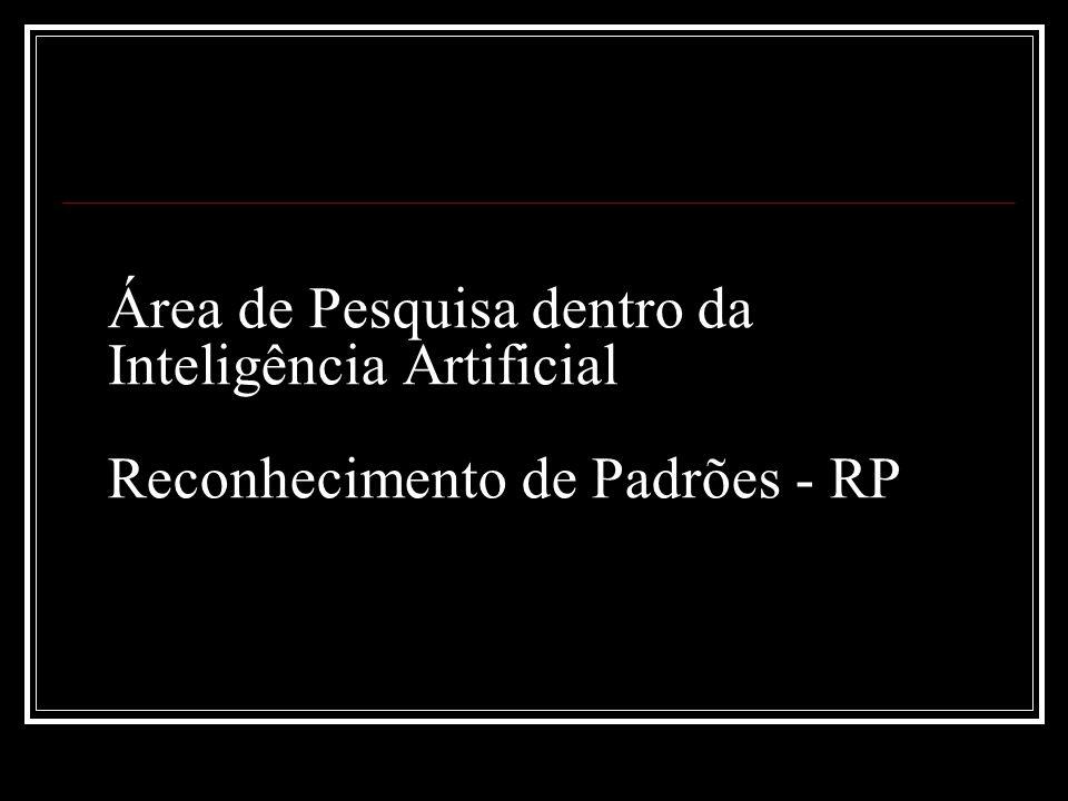 Área de Pesquisa dentro da Inteligência Artificial Reconhecimento de Padrões - RP