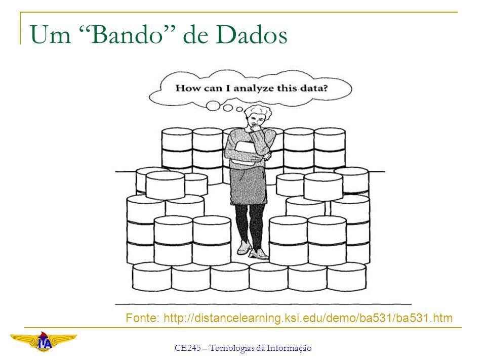 CE245 – Tecnologias da Informação Um Bando de Dados Fonte: http://distancelearning.ksi.edu/demo/ba531/ba531.htm