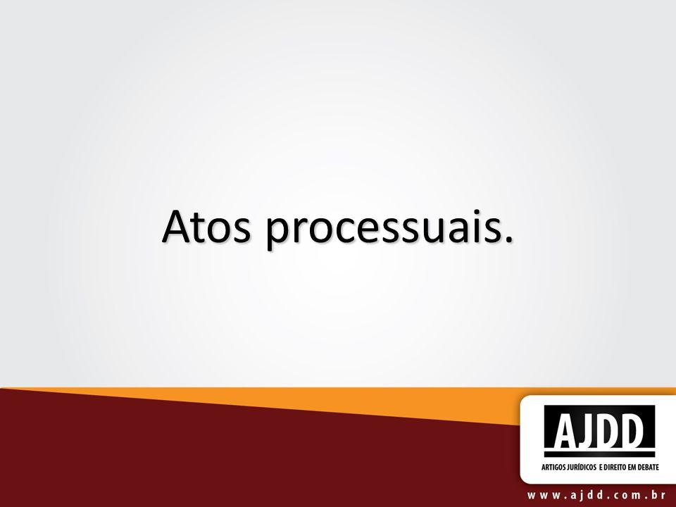 Atos processuais: conceito.