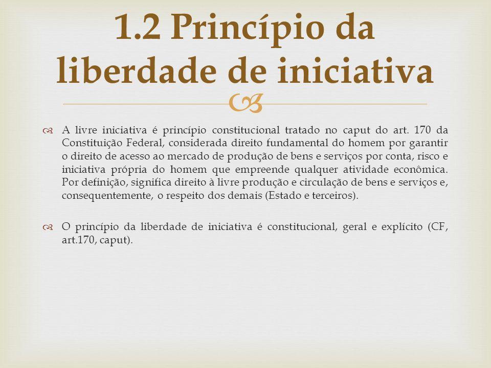 A livre iniciativa é princípio constitucional tratado no caput do art. 170 da Constituição Federal, considerada direito fundamental do homem por garan