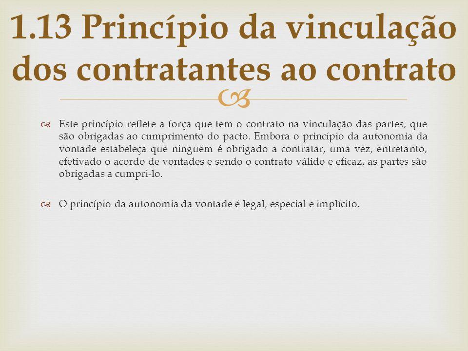Este princípio reflete a força que tem o contrato na vinculação das partes, que são obrigadas ao cumprimento do pacto. Embora o princípio da autonomia
