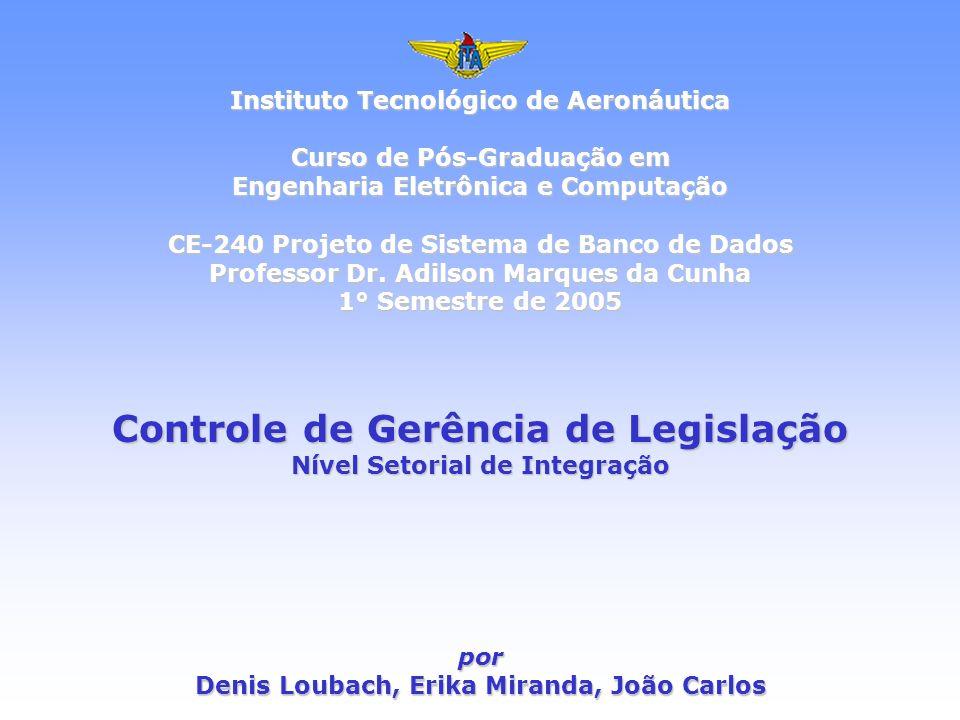 Instituto Tecnológico de Aeronáutica Curso de Pós-Graduação em Engenharia Eletrônica e Computação CE-240 Projeto de Sistema de Banco de Dados Professo