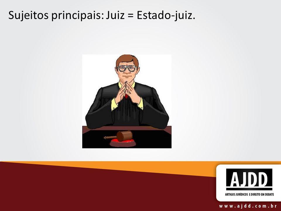 Sujeitos principais: Juiz = Estado-juiz.