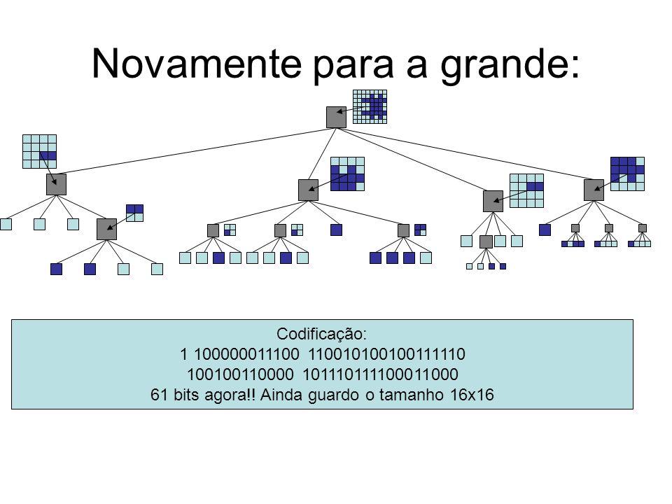 Novamente para a grande: Codificação: 1 100000011100 110010100100111110 100100110000 101110111100011000 61 bits agora!.