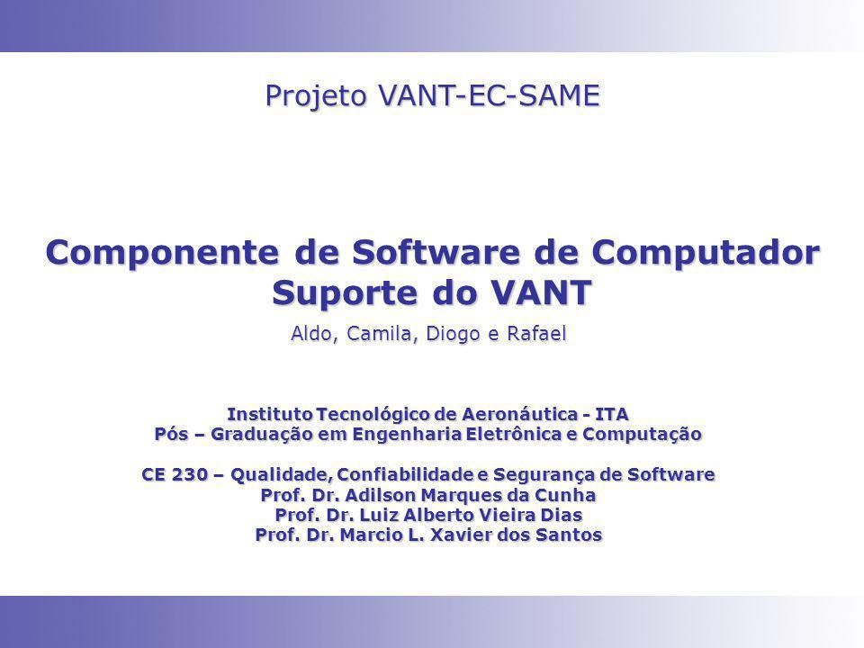 Componente de Software de Computador Suporte do VANT Instituto Tecnológico de Aeronáutica - ITA Pós – Graduação em Engenharia Eletrônica e Computação CE 230 – Qualidade, Confiabilidade e Segurança de Software Prof.