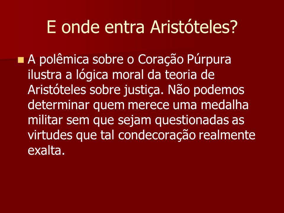 E onde entra Aristóteles.