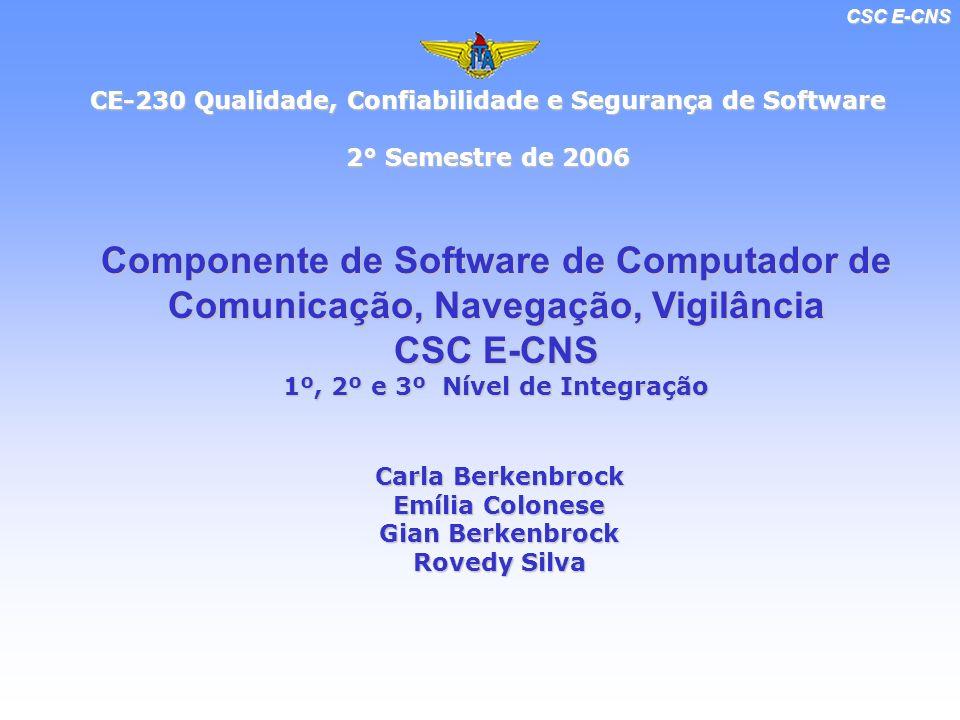 CSC E-CNS CE-230 Qualidade, Confiabilidade e Segurança de Software 2° Semestre de 2006 2° Semestre de 2006 Componente de Software de Computador de Com